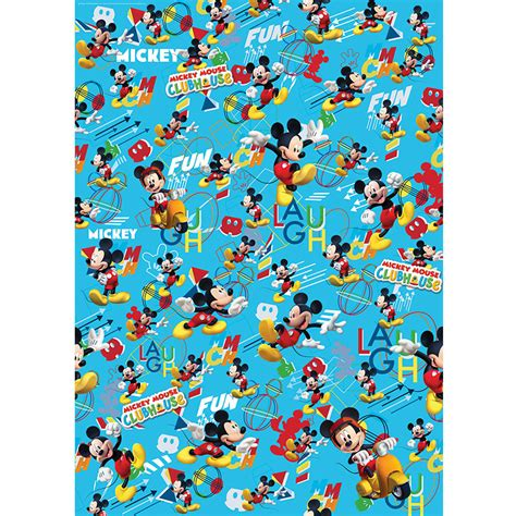mickey mouse gift wrap character wrapping paper mickey mouse 3m gift wrap