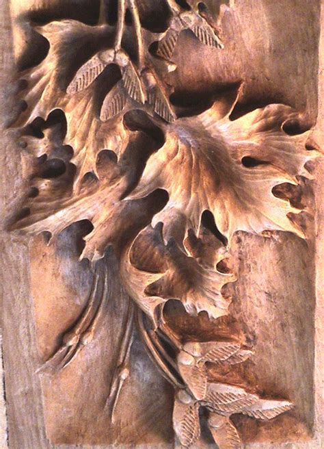 leaf pattern relief carving wood carved leaves research for possible future project