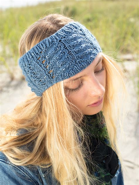 knit lace headband pattern free free cable and lace headband knitting pattern