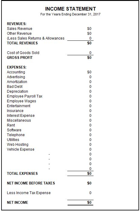 Sle Income Statement Free Income Statement Template Basic Accounting Help Income Statement Template