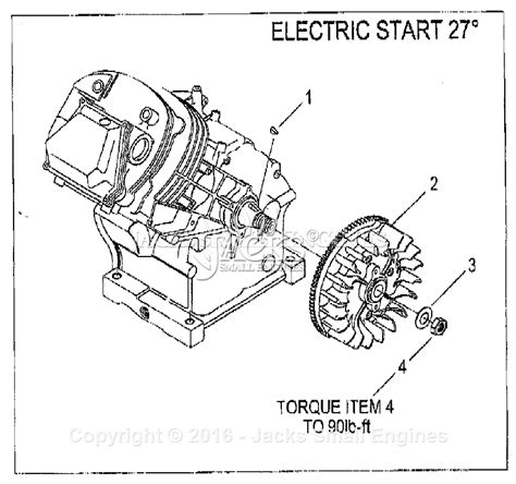 generac gh  parts diagram  flywheel