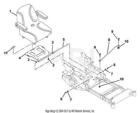 gravely   pm  hp kawasaki  deck parts diagram  seat