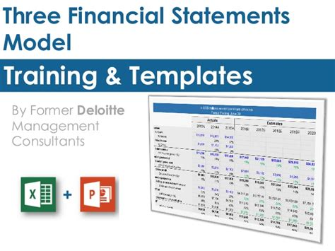 Financial Statement Model Template three financial statements model template