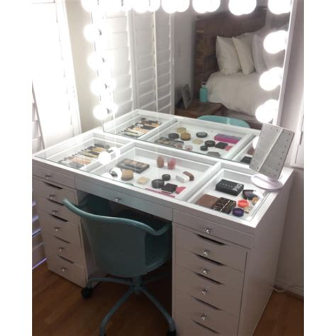 See Through Makeup Drawers by 1 5m See Through Vanity Table With 13 Drawers Upgraded