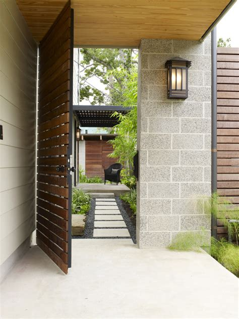 cohen residence entry path asian landscape houston by rh factor landscape design