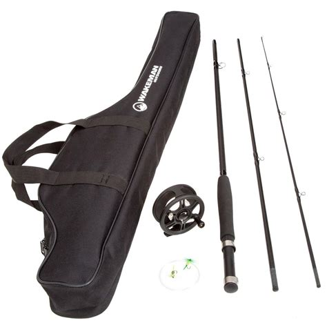 wakeman 8 ft fly fishing combo with carry bag m500017