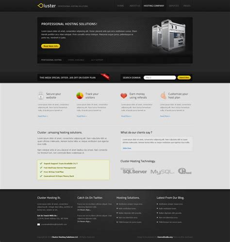 web hosting template 30 best web hosting website templates html css and