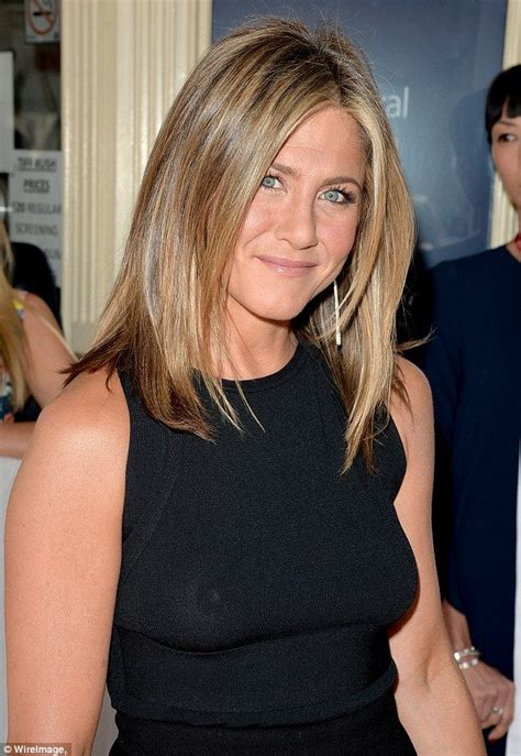 Blous Jenifer Top aniston braless in a see through black top aniston posts