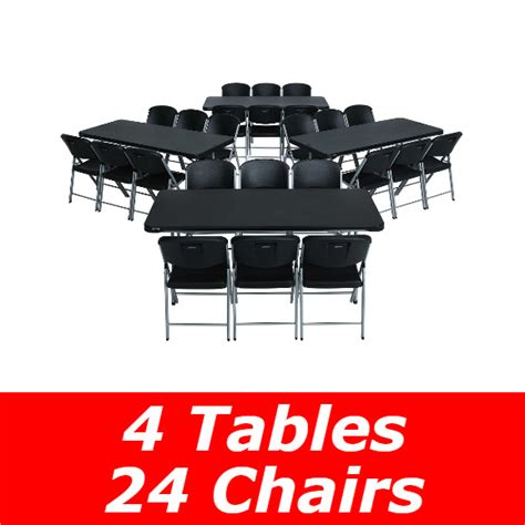 bulk tables and chairs lifetime 6 ft rectangular tables chairs black fast