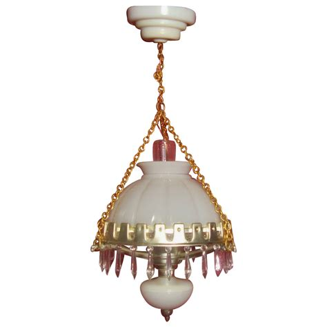 Hanging Bulb Chandelier Miniature Dollhouse Hanging L Chandelier Kerosene Style With From Rubylane Sold On Ruby