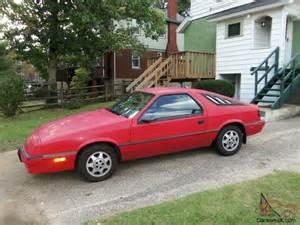 1988 Chrysler Daytona 1988 Dodge Daytona 35k Original 5 Speed
