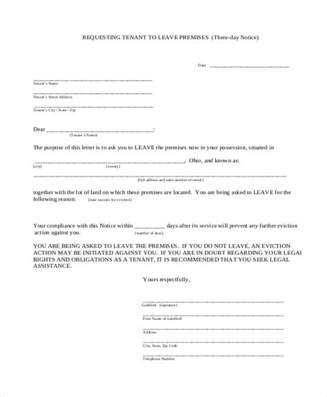 free eviction notice 10 eviction notice exles sles