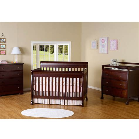 Baby Nursery Decor Three Piece Baby Crib Nursery Sets Convertible Crib And Dresser Set