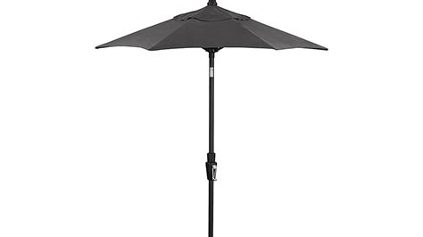 6 Round Sunbrella 174 Charcoal Patio Umbrella With Tilt Black Patio Umbrellas On Sale