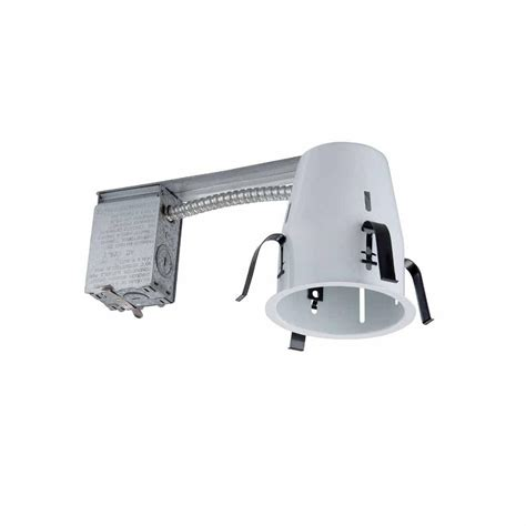 remodel housing recessed lighting commercial electric 4 in white recessed non ic remodel