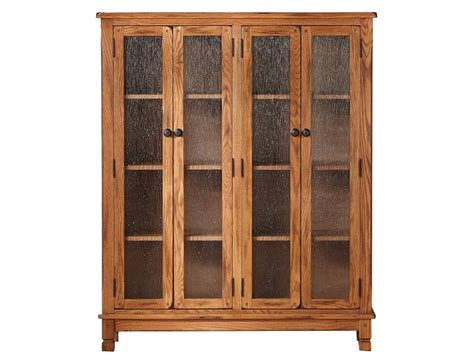 Oak Bookcase With Doors Oak Bookcase Aquarium Doherty House Oak Bookcases With Glass Doors