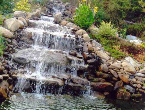 backyard pond ideas with waterfall garden ponds and waterfalls smalltowndjs com