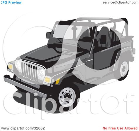 black jeep wrangler unlimited top off clipart illustration of a black jeep wrangler convertible