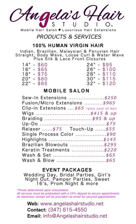 Hair Extension Types And Prices by 58 Best Images About Angela S Hair Studio Mobile Hair