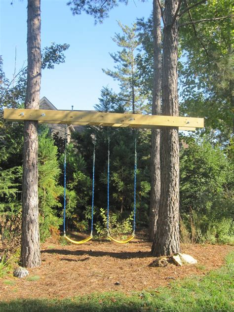 hanging a swing between two trees projects