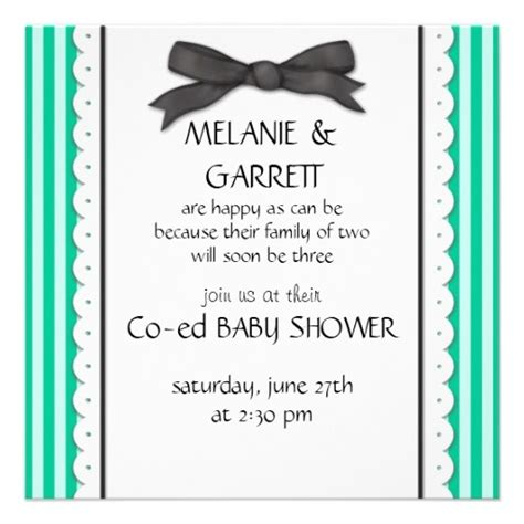 Co Ed Baby Shower Wording by Ribbon Stripes Co Ed Baby Shower Invitation