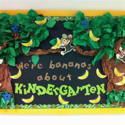 theme for education day jungle themed bulletin board for kindergarten teaching