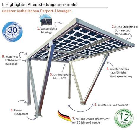 carport selbstbausatz solarcarport sonnenplaner