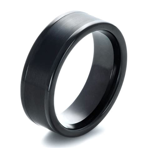 black tungsten mens wedding bands s brushed black tungsten ring 1360
