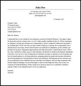 cover letter for a pharmacy assistant professional pharmacy assistant cover letter sle