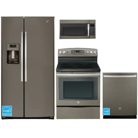 complete kitchen appliance packages ge gse26hme slate complete kitchen package brandsmart usa