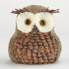 Set Kutung Velvet Owl velvet plum blossoms set of 2 set of world and world market