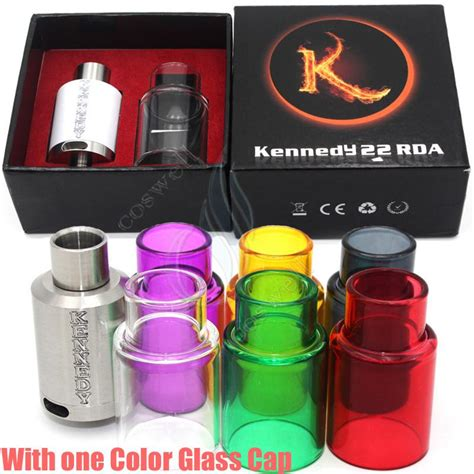 Smpl Mod Kennedy 22 Rda Clone 1 kennedy 22 rda with pyrex glass kit dripper atomizers wide bore drip tip 3mm post