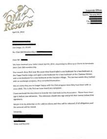 Cancellation Letter Refund Qm Resorts Cancellation Letter Resort Success