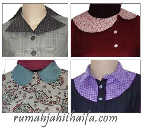 Gamis Wolvis Kombinasi Batik detail baju kerah kraag collar rumah jahit haifa