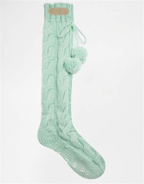 cable knit slipper socks bedroom athletics bedroom athletics mint cable