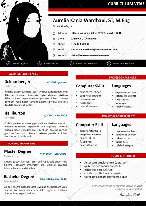 layout cv kreatif desain cv kreatif beautify curriculum vitae resume