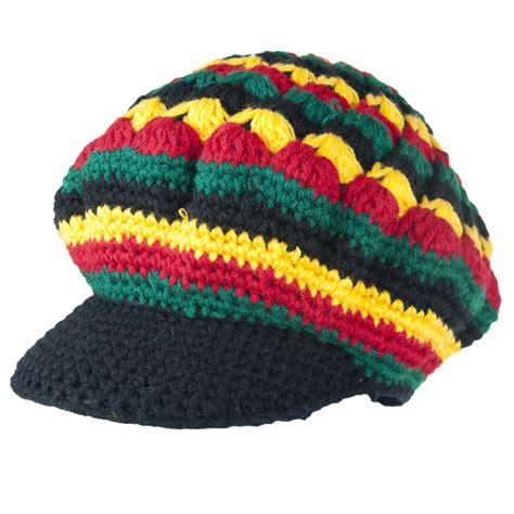 jamaican knit hats exodus rasta wool knit brim hat rastaempire