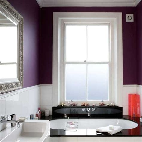 Purple and white bathroom housetohome co uk