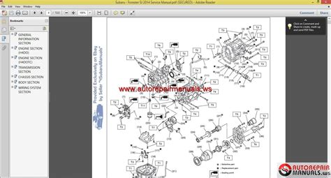 auto repair manual online 2005 subaru impreza parking system subaru forester sj 2014 service manual auto repair