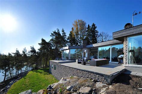 atypical scandinavian villa in the stockholm archipelago - Scandinavian Villa