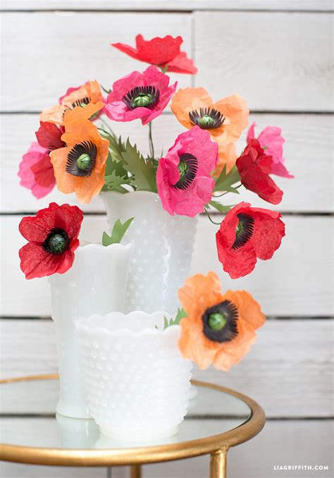 How To Make Tissue Paper Poppies - tissue paper poppies lia griffith