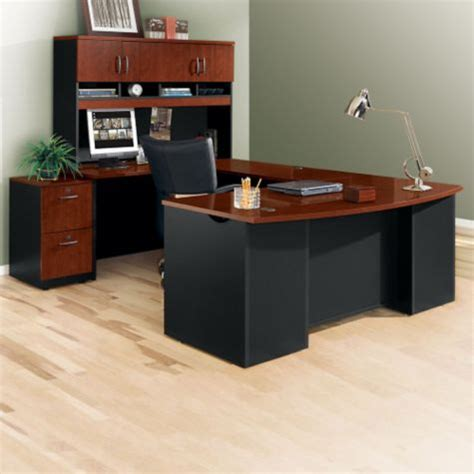 office front desk furniture executive bow front u desk with hutch 72w