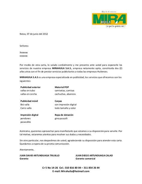 ejemplo de carta de presentacin para una empresa carta de presentacion mirahuila