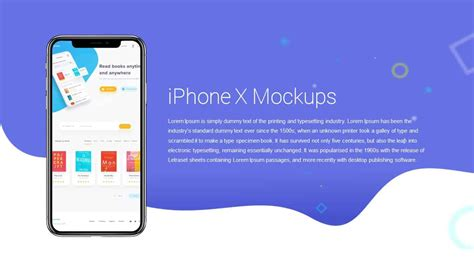 Iphone X Mockups Powerpoint And Keynote Template Slidebazaar Iphone Presentation Template
