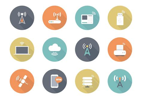Free Flat Wireless Vector Icons - Download Free Vector Art ...