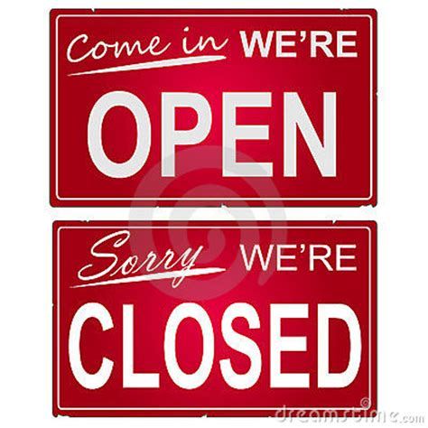 Open Closed Sign Template by Closed Sign Template Www Pixshark Images Galleries