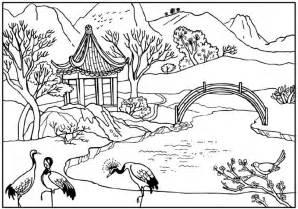secret garden coloring book japanese kolorowanki dla dorosłych krajobrazy do wydruku