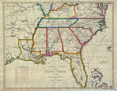 map of southern states south carolina maps