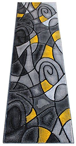 Yellow And Grey Runner Rug Masada Rugs Modern Contemporary Runner Area Rug Yellow Grey Black 2 X 7 Area