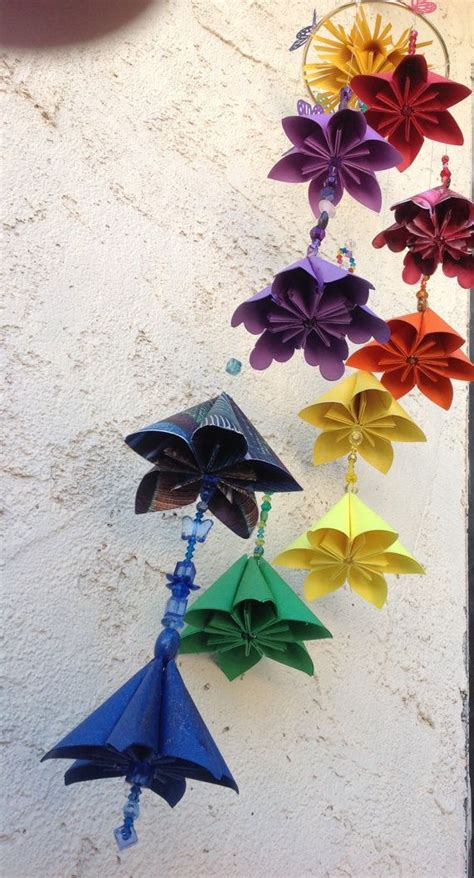Origami Flower Mobile - 25 best ideas about origami mobile on diy